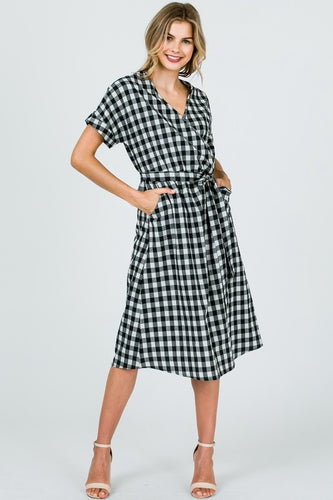 The Hannah Dress in Black & White Gingham