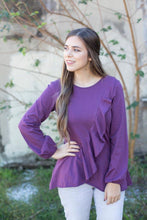 Gabrielle Ruffle Long Sleeve Top