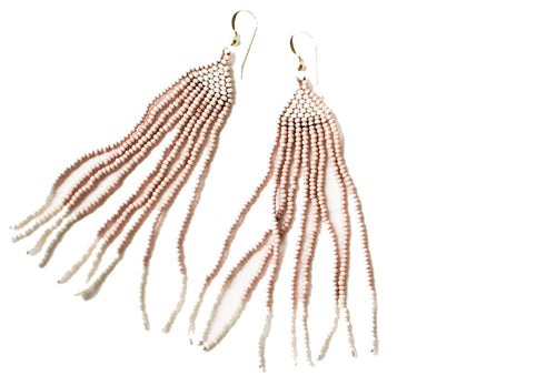 La Kay Beaded Earrings in Fraise