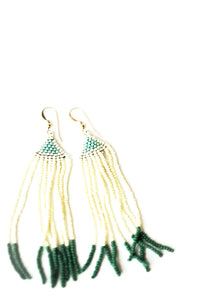 La Kay Beaded Earrings in Verdure