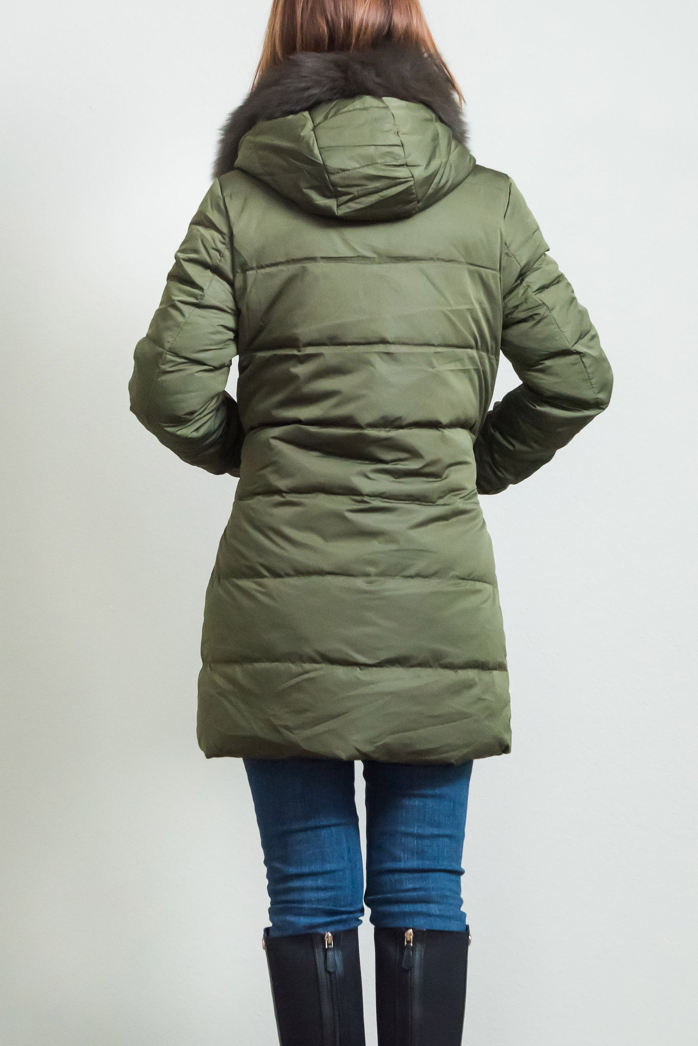 7be770fa5af Women's Puffer Down Coat with removable faux fur trim