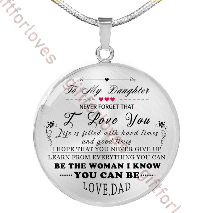 To My Daughterluxury Necklace For Daughterbirthday Gift Daughter From Dad Necklaceamazing 184dd
