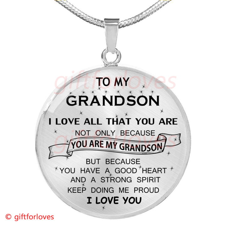 To My Grandson Luxury Necklace Gifts For Grandsons First Birthday