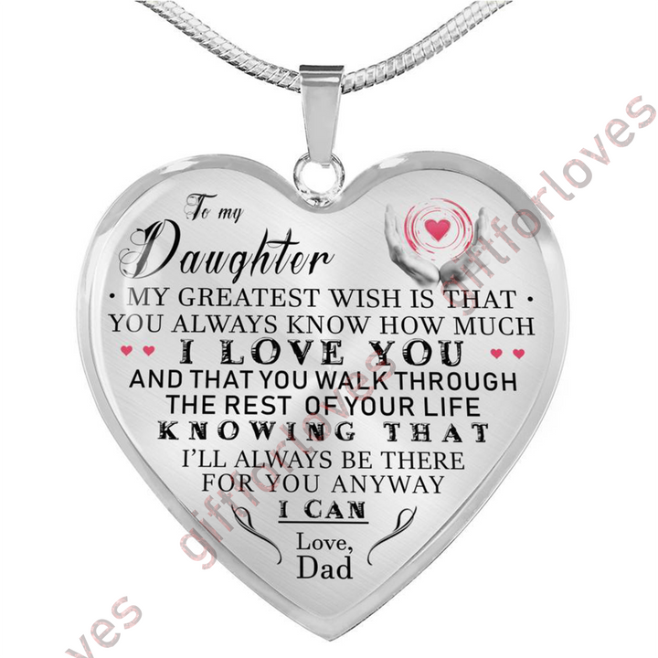 To My Daughter Necklace For Birthday Gift Daughterluxury