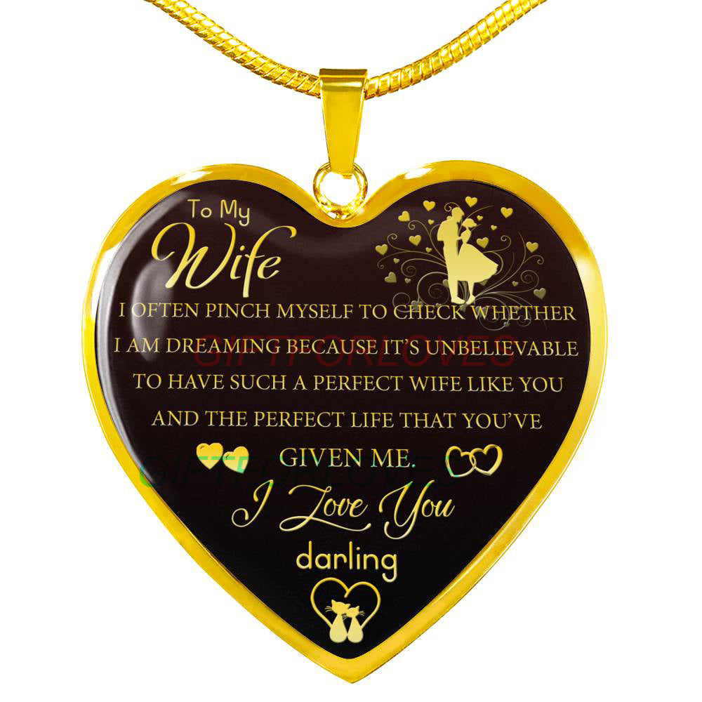 Perfect Christmas Gift For Wife.To My Wife Gift For Christmas 2018 Christmas Gift Ideas For Wife Beautiful Wife Necklace Wife Necklace To My Wife Necklace Best Gifts For Wife
