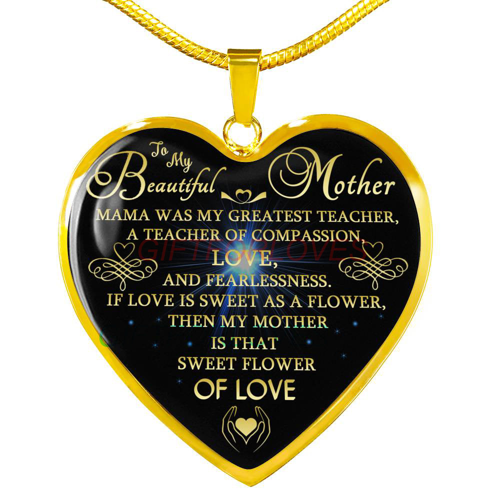 To My Mom Gift For Christmas 2018 Ideas Beautiful Necklace Best Gifts Birthday