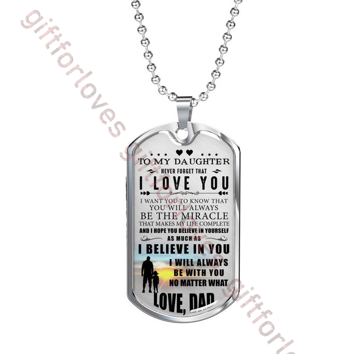 Gift For Daughter Special Dog Tag From Dad Birthday