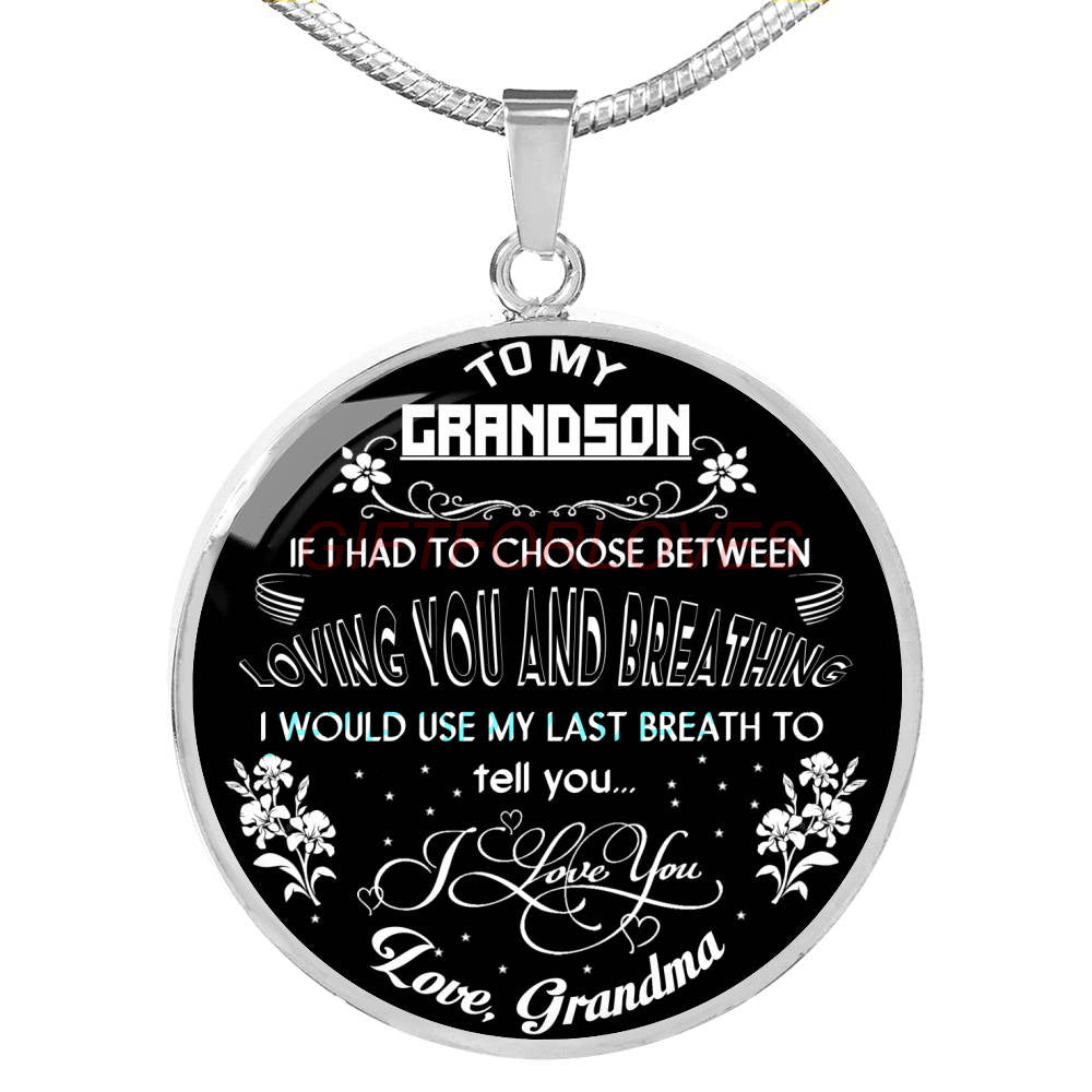 To My Grandson Necklace Best Gifts For Birthday Grandmother And 445
