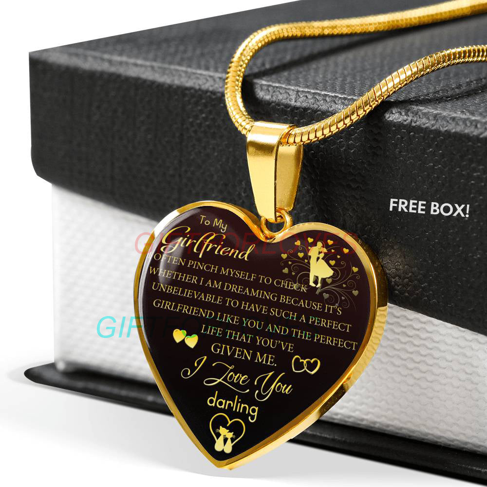 Girlfriend Necklace To My Beautiful Best Gifts For Birthday Boyfriend And