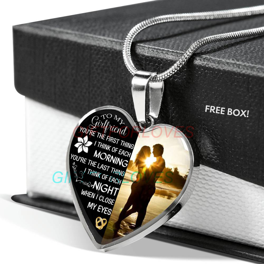 To My Girlfriend Boyfriend And Necklace Necklaceto Gorgeous Birthday Gifts For