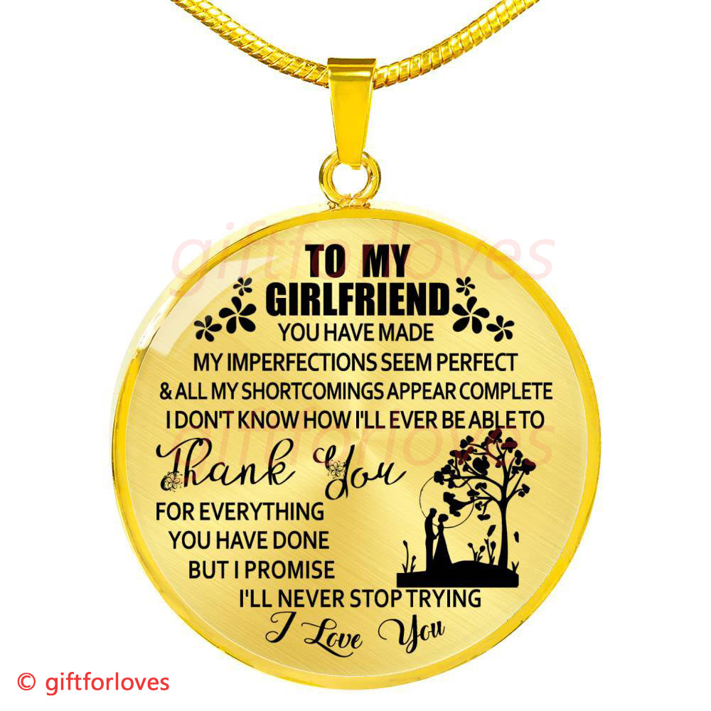 To My Girlfriend Luxury Necklace Birthday Gift For From Boyfriend The First Date Unique Anniversary Gifts552GFO