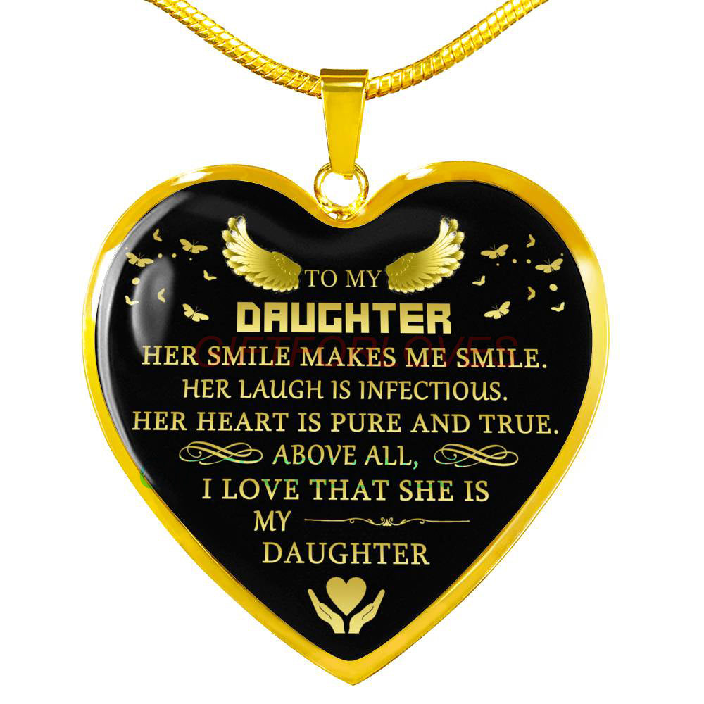0fb103be889a To my daughter: Gift for Christmas 2018, Christmas gift ideas for daughter,  daughter necklace, to my daughter necklace, best gifts for daughter, ...