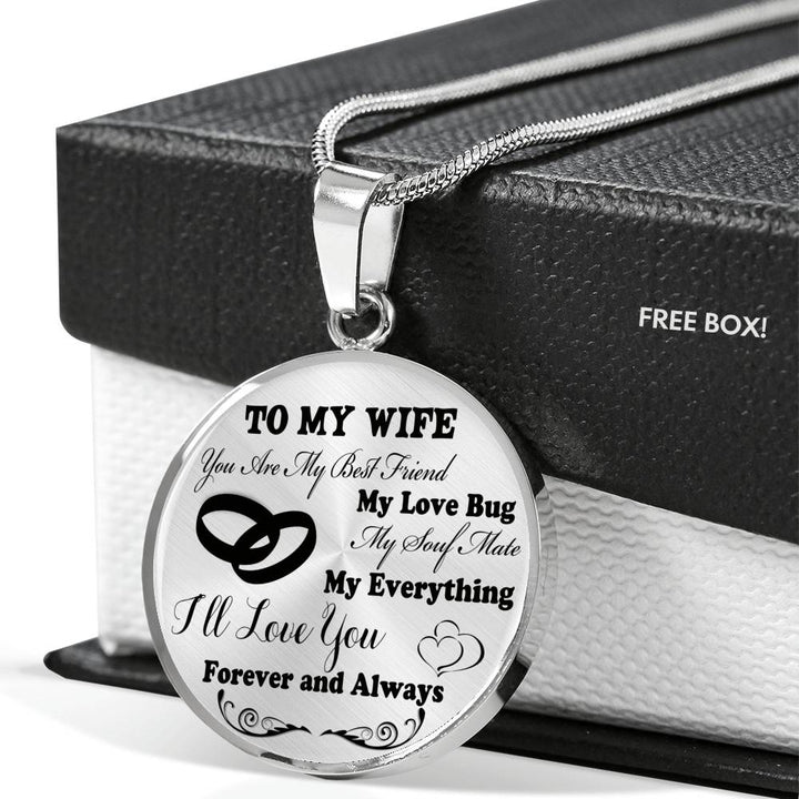 To My Wife Luxury Necklace Husband And NecklaceBirthday Gifts For Her