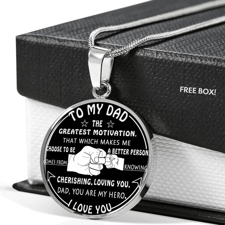 To My Dad Luxury Necklace Fatheru0027s Day Gift Best Gifts For Dad Birthday  sc 1 st  GiftForLoves.com & To My Dad Luxury Necklace Fatheru0027s Day Gift Best Gifts For Dad ...