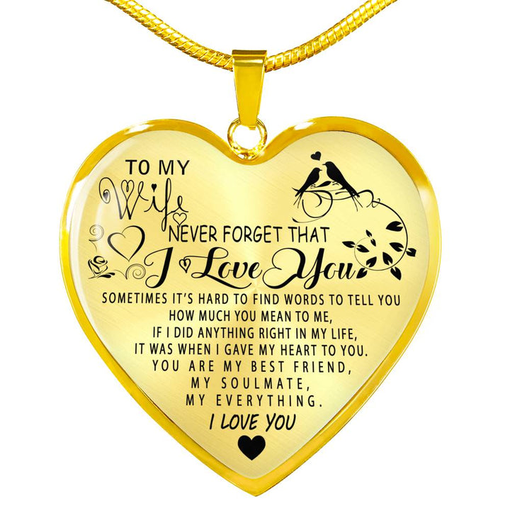 To My Wife Luxury Necklace Wife And Husband Necklace Best Gift