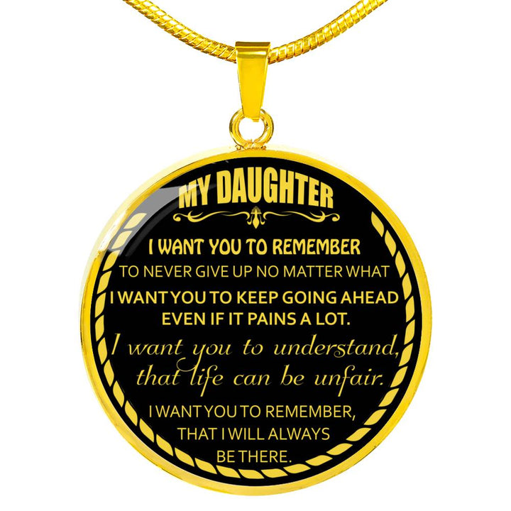 To My Daughter Mom Necklace Gift for Daughter from Mother Mama Birthday Gift
