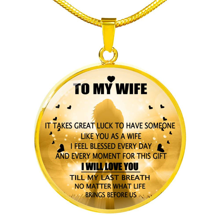 Wife And Husband Necklace Best Gift For Wife From Husband Perfect