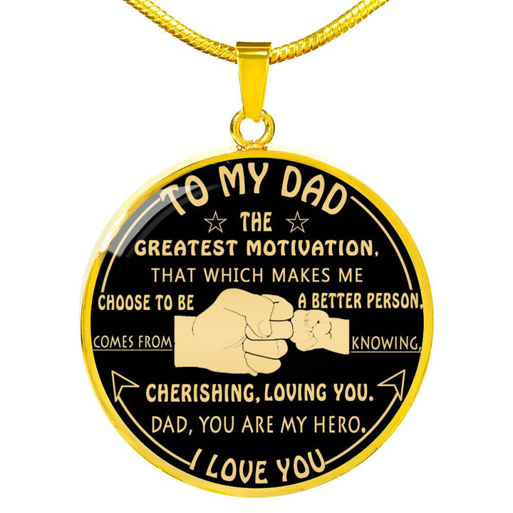 To My Dad Luxury Necklace Fathers Day Gift Best Gifts For Birthday