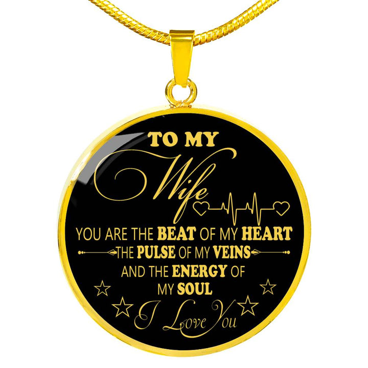 To My Wife Luxury Necklace Husband And Birthday Gifts For