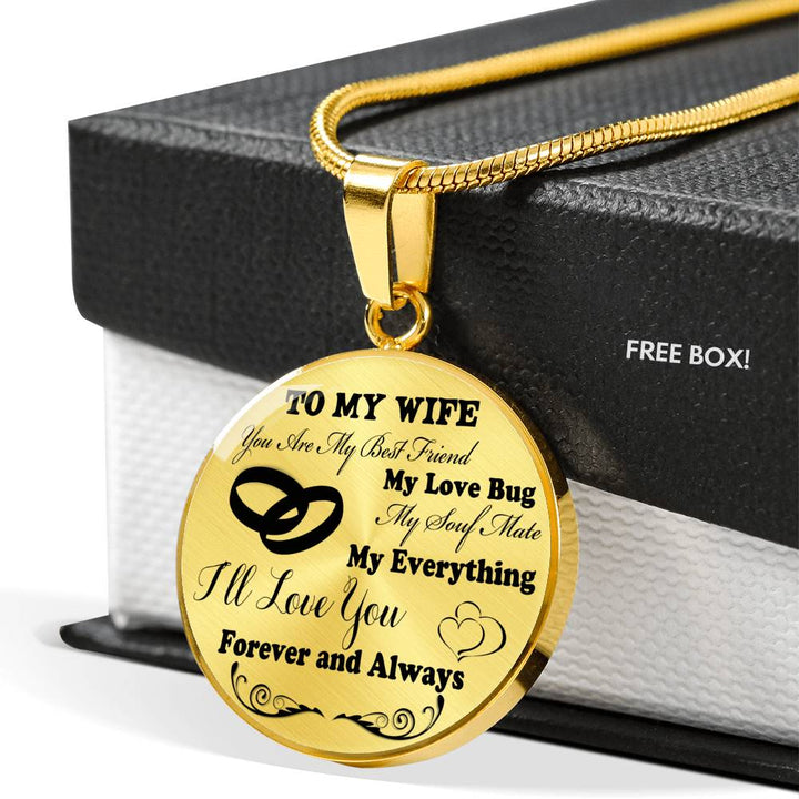 To My Wife Luxury Necklace Husband And Wife Necklacebirthday Gifts