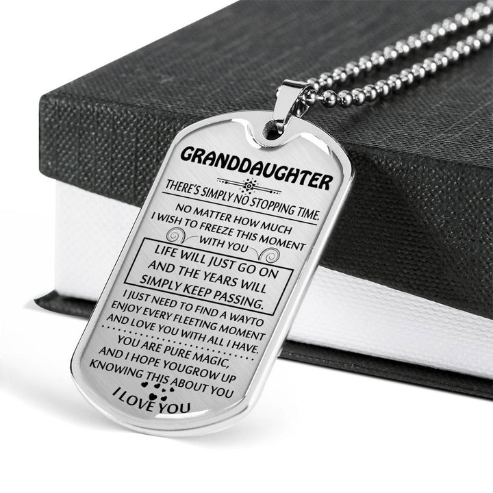 To My Granddaughter Dog Tag Granddaughter Gifts From Grandparents