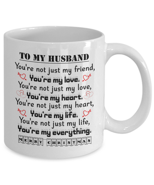 To My Husband Gift For Christmas 2018 Ideas Merry Coffee Mug Best Gifts