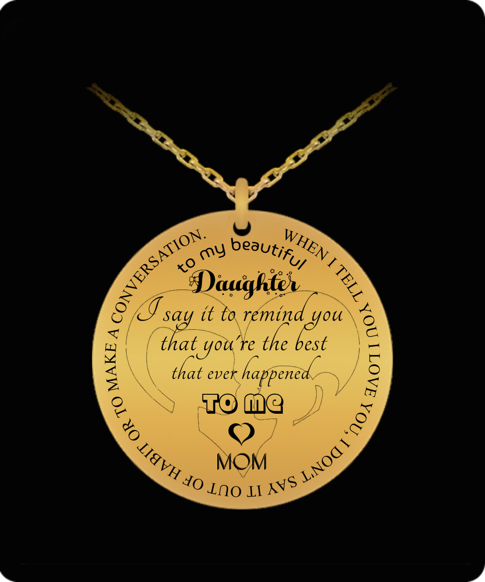 To My Daughter Gift For Christmas 2018 Ideas Necklace Best Gifts Birthday