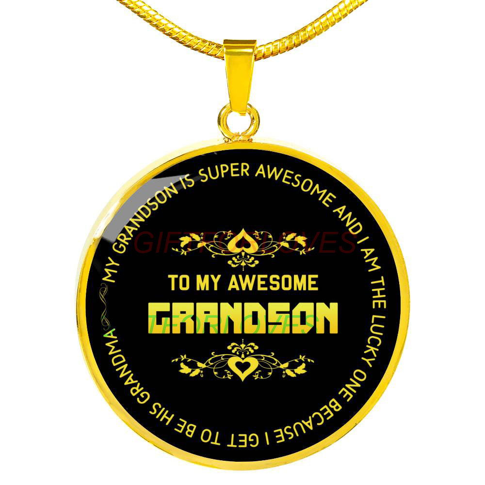 To My Grandson Gift For Christmas 2018 Ideas Necklace From Parents