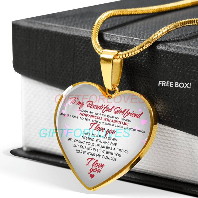 Good Things To Get Your Girlfriend For Christmas.To My Girlfriend Necklace Gift Birthday From Boyfriend Fiance Anniversary Gift Idea 1256fhhn