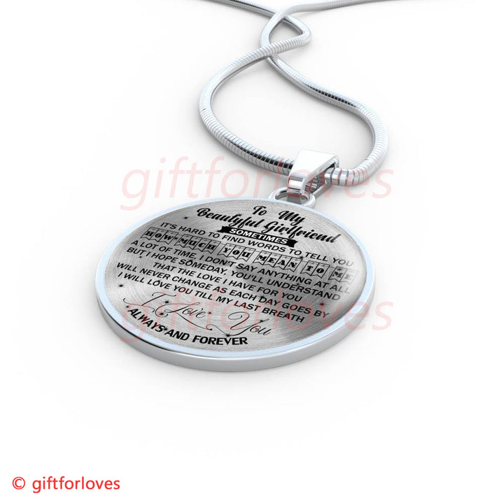 To My Girlfriend Luxury Necklace Birthday Gift For From Boyfriend The