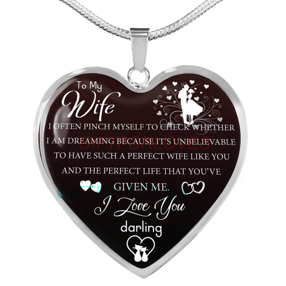Wife Christmas Gifts.To My Wife Gift For Christmas 2018 Christmas Gift Ideas For Wife Beautiful Wife Necklace Wife Necklace To My Wife Necklace Best Gifts For Wife