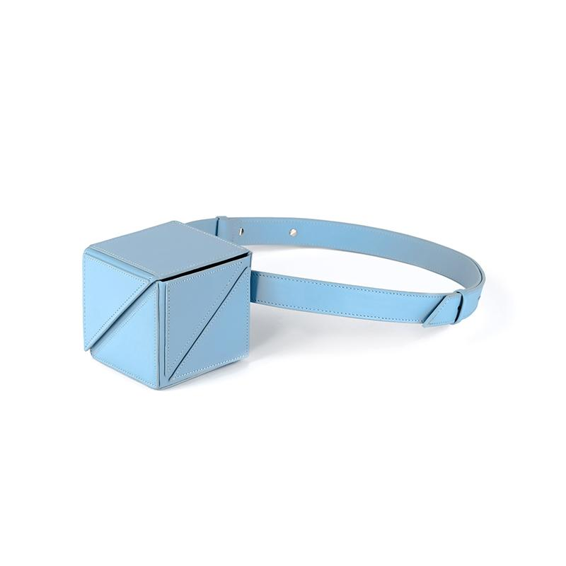 YEE SI Cube Mini Belt Bag - Blue 1