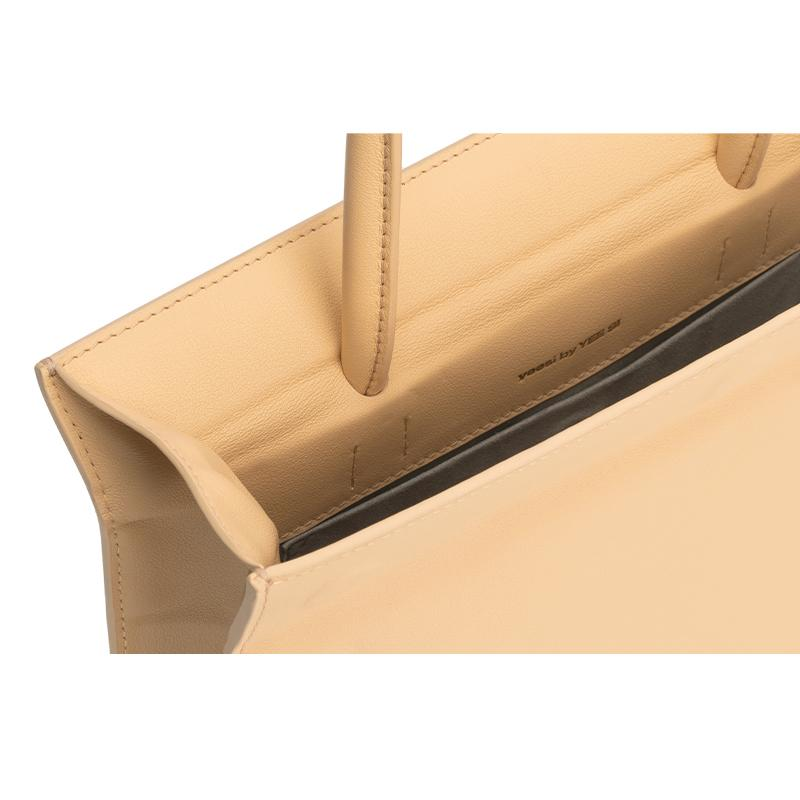 YEE SI Click Medium Shoulder Bag - Apricot 4