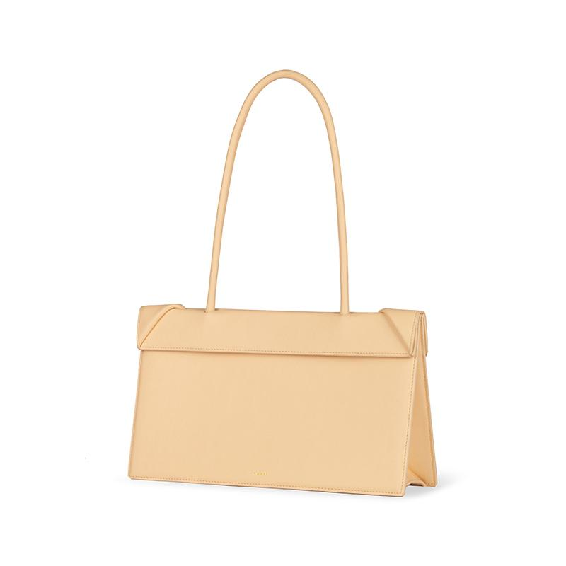 YEE SI Click Medium Shoulder Bag - Apricot 2