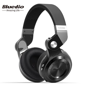 Bluedio T2 Bluetooth Folding Headphones Built-in Mic BT4.1 Powerful Stereo Bass Over-ear Headphones