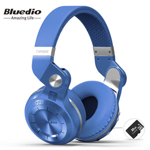 Bluedio T2+ fashionable foldable over the ear bluetooth headphones BT 4.1 support FM radio& SD card