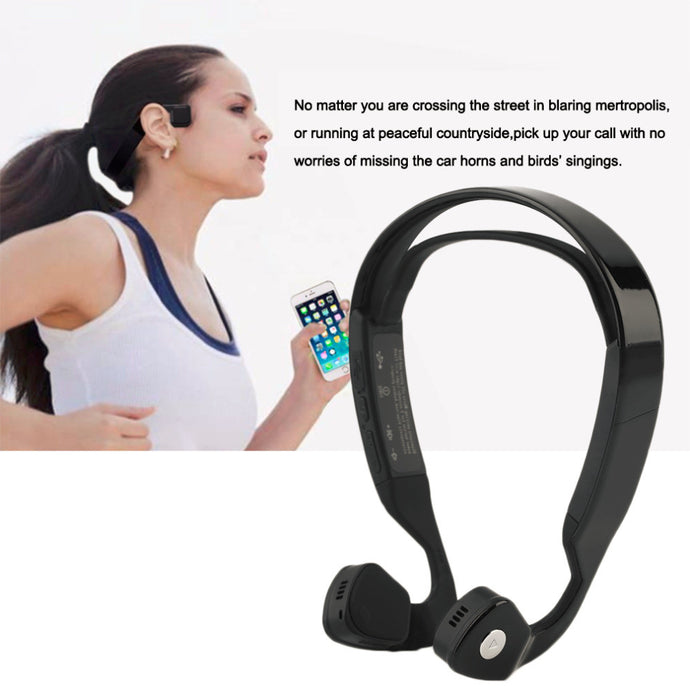 Bone Conduction Headphone Bluetooth 4.0 Wireless with Mic for IOS Android phone