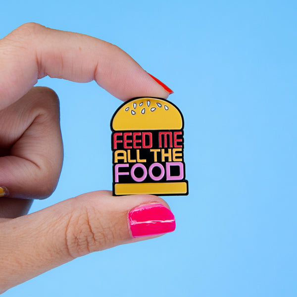 feed me all the food burger enamel pin Punky pins