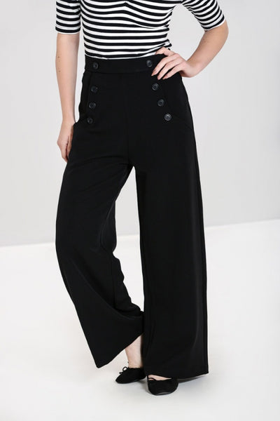 carlie-black-wide-leg-hell-bunny-trousers