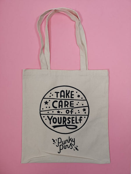 Take care of yourself Punky Pins tote NZ