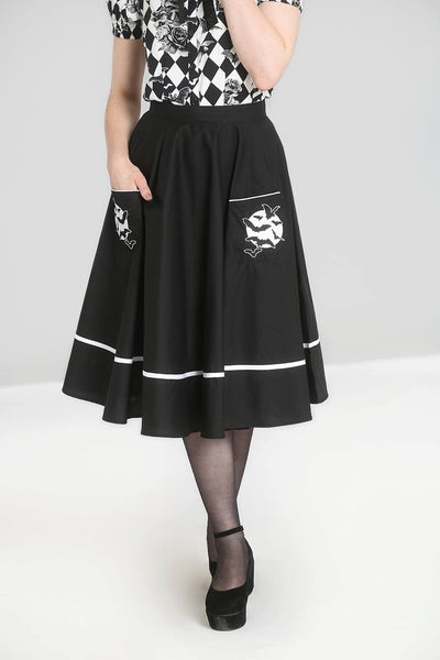 Hell Bunny full moon bat skirt NZ