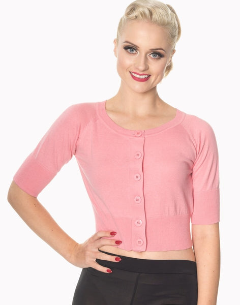 pink-raven-short-sleeved-cardigan