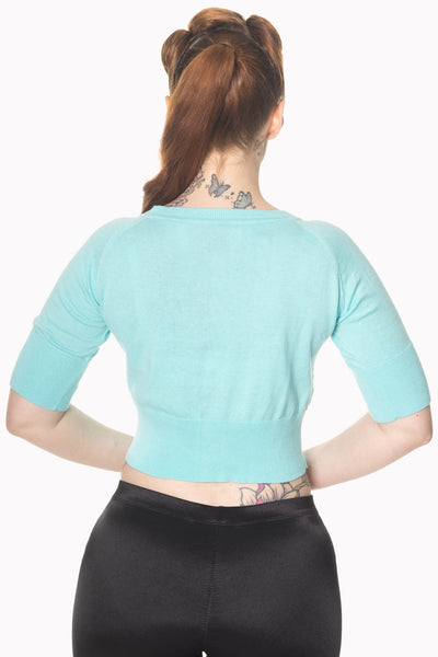turquoise-raven-short-sleeved-cardigan-back