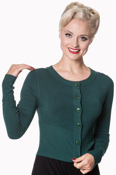 Banned Dolly forest green cardigan