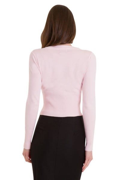 baby pink Dolly cardigan Banned Apparel back