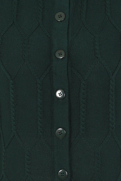 forest green banned apparel cable knit cardigan button detail