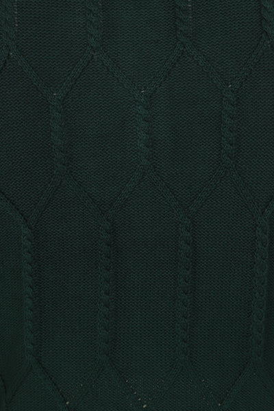 forest green banned apparel cable knit cardigan cable detail