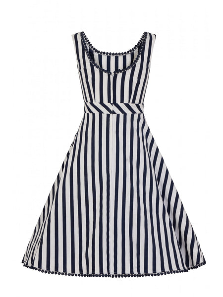 Collectif-clothing-Lucille-striped-dress-back