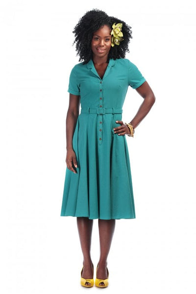 Collectif caterina green dress NZ
