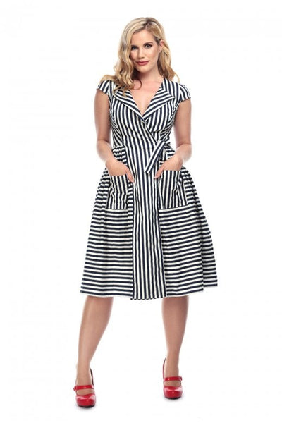 Joice striped swing dress